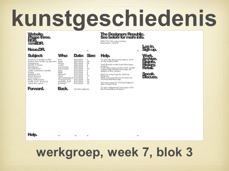 kunstgeschiedenis werkgroep, week 7, blok 3