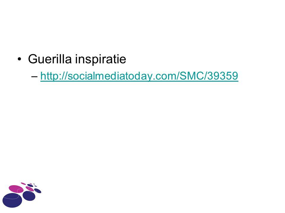 Guerilla inspiratie http://socialmediatoday.com/SMC/39359