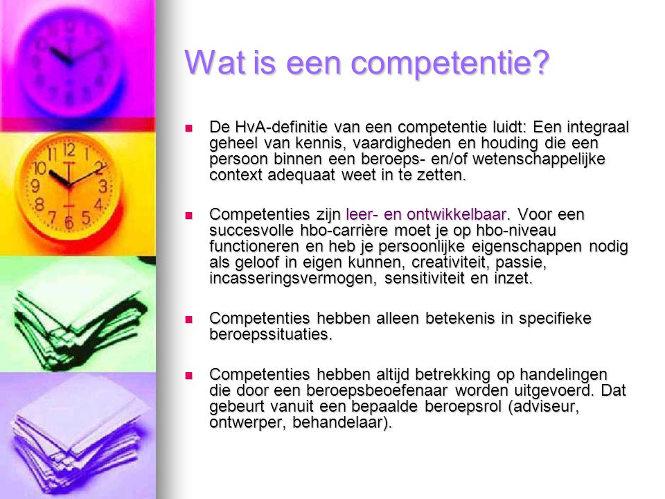 Wat is een competentie
