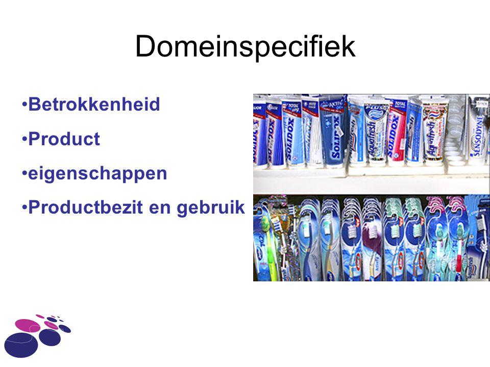 Domeinspecifiek Betrokkenheid Product eigenschappen