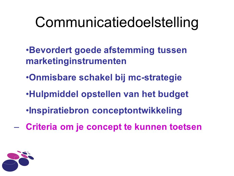Communicatiedoelstelling