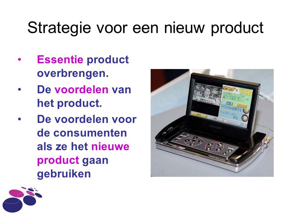 Strategie voor een nieuw product