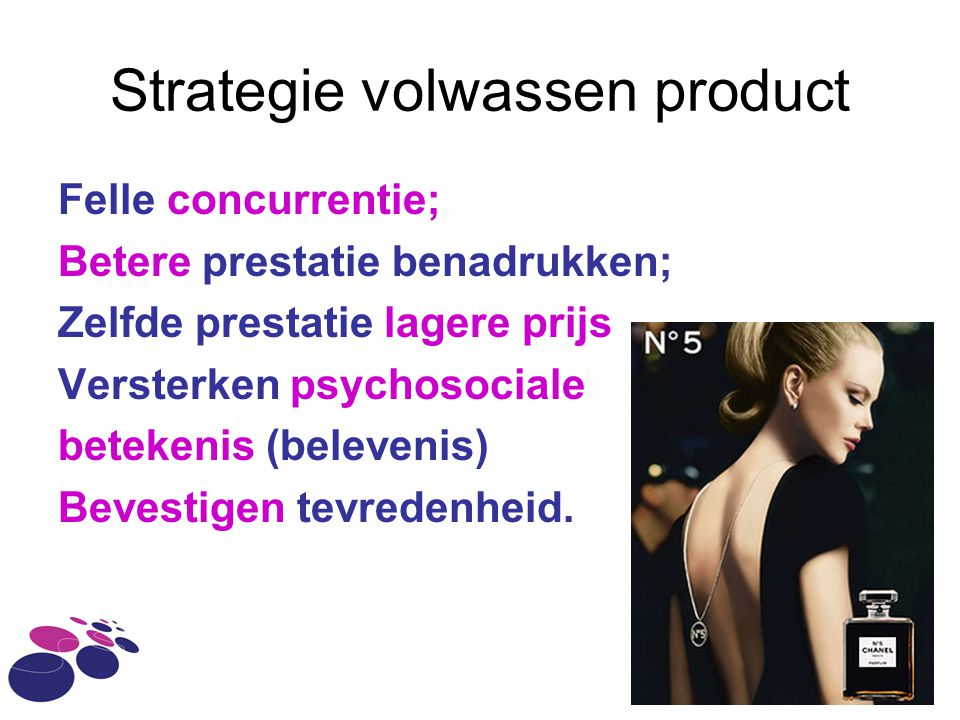Strategie volwassen product