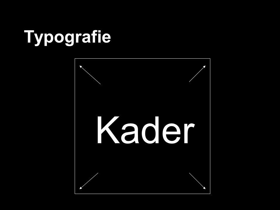 Typografie Kader