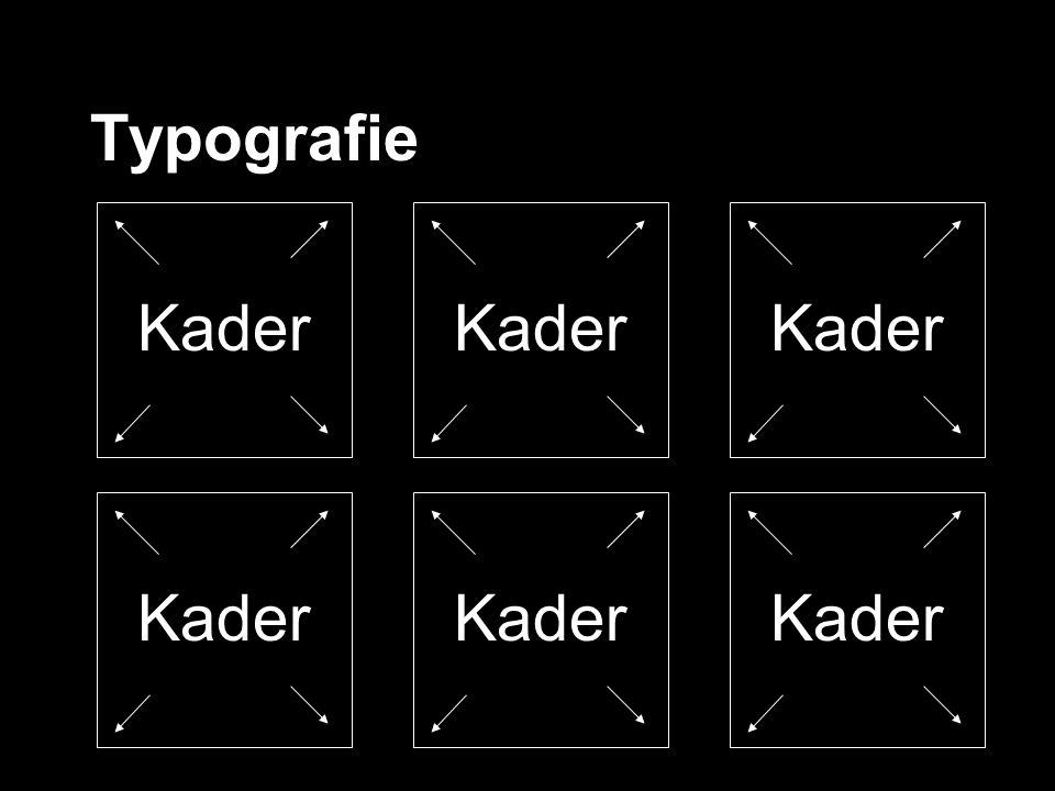 Typografie Kader Kader Kader Kader Kader Kader
