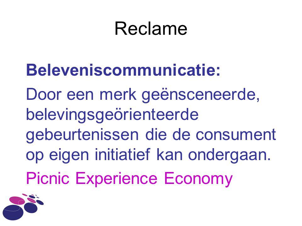 Reclame Beleveniscommunicatie:
