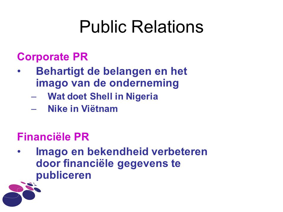 Public Relations Corporate PR