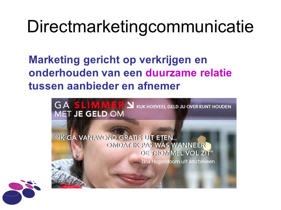 Directmarketingcommunicatie
