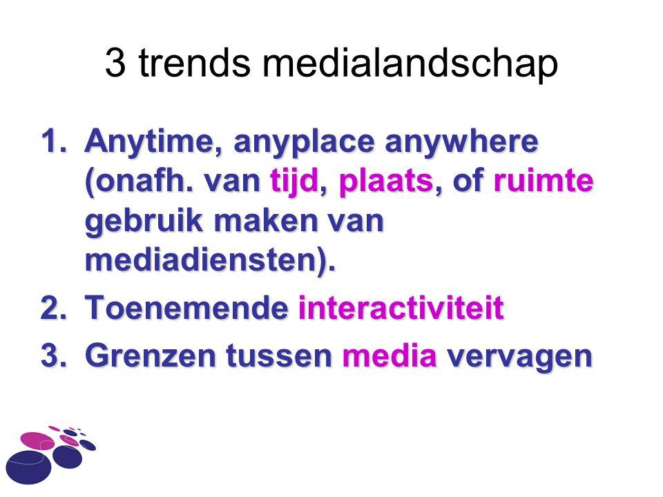 3 trends medialandschap