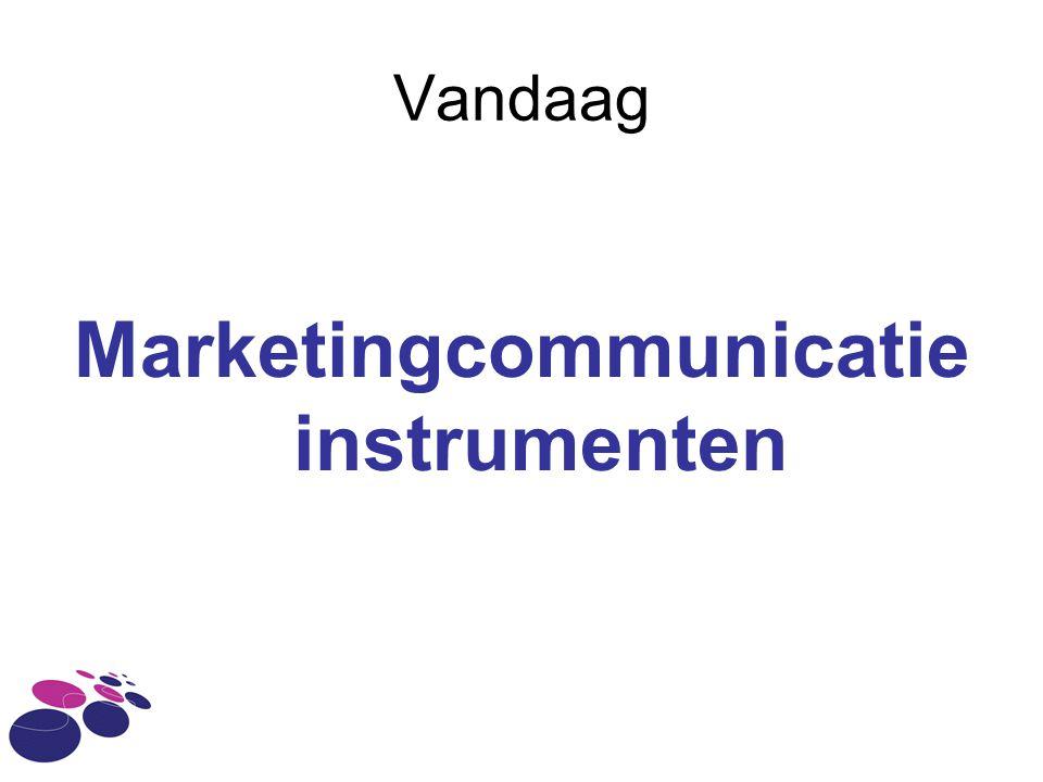 Marketingcommunicatie instrumenten