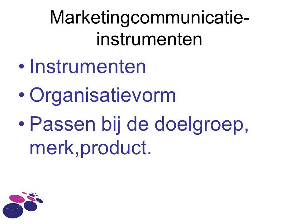 Marketingcommunicatie-instrumenten