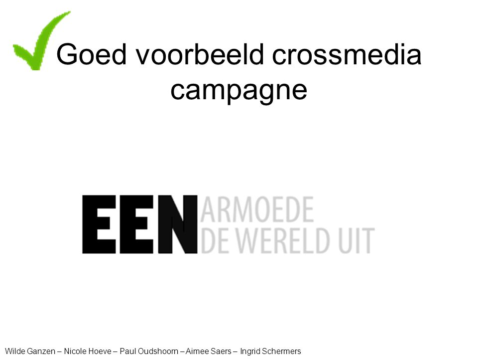 Goed voorbeeld crossmedia campagne