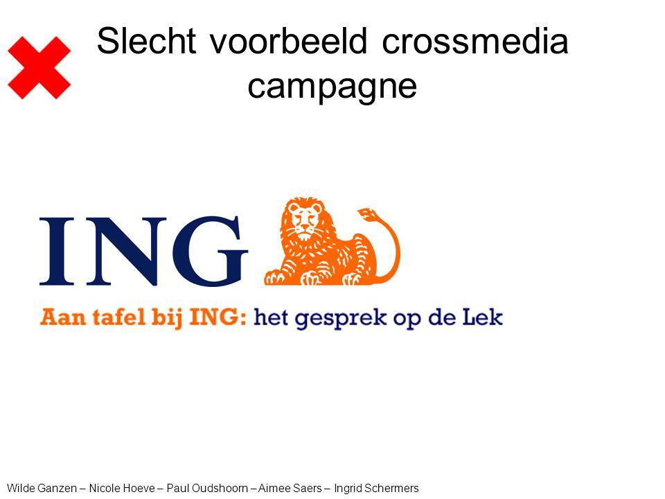 Slecht voorbeeld crossmedia campagne