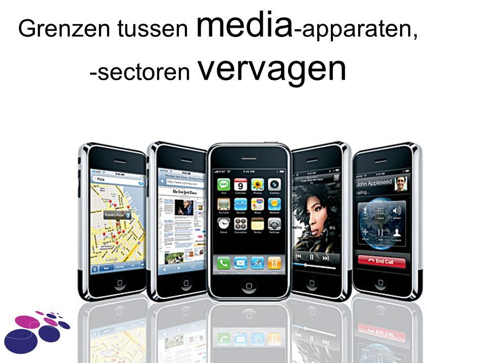 Grenzen tussen media-apparaten, -sectoren vervagen