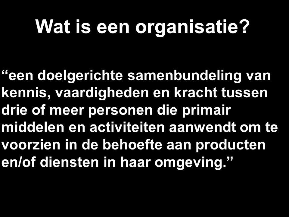 Wat is een organisatie