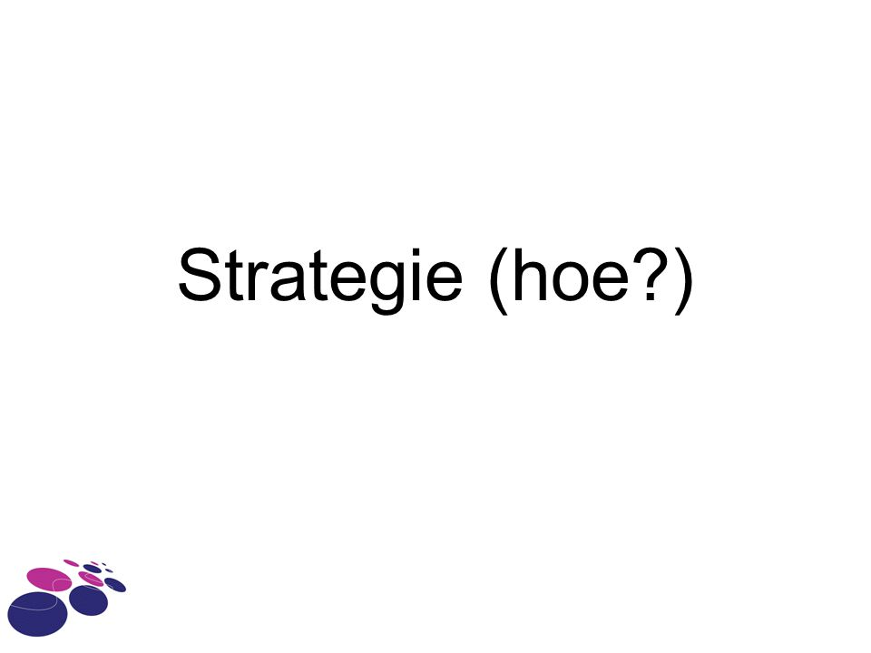 Strategie (hoe )