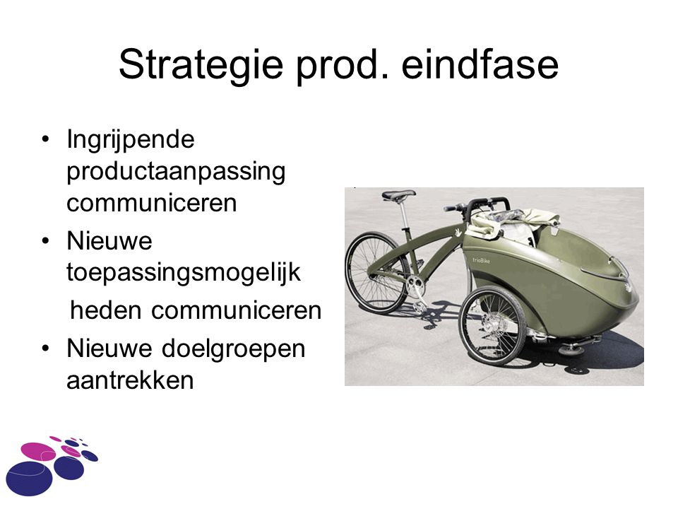 Strategie prod. eindfase