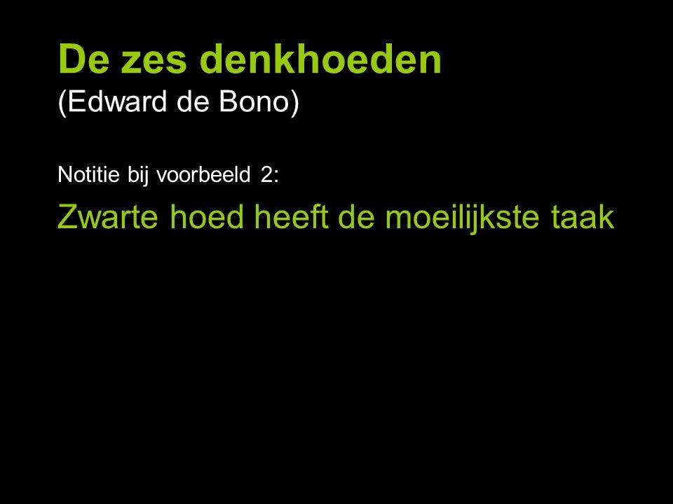 De zes denkhoeden (Edward de Bono)