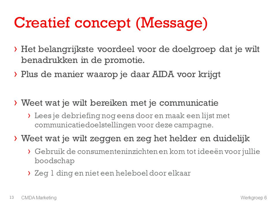 Creatief concept (Message)