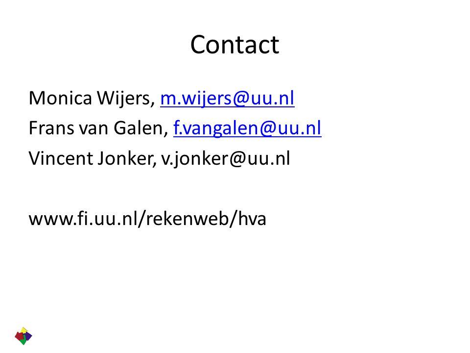 Contact Monica Wijers, m.wijers@uu.nl