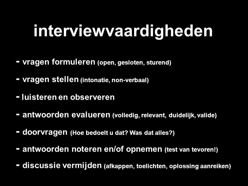 interviewvaardigheden