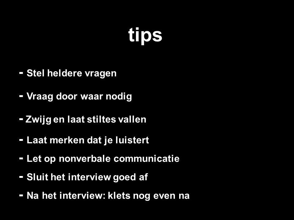 tips - Stel heldere vragen - Vraag door waar nodig