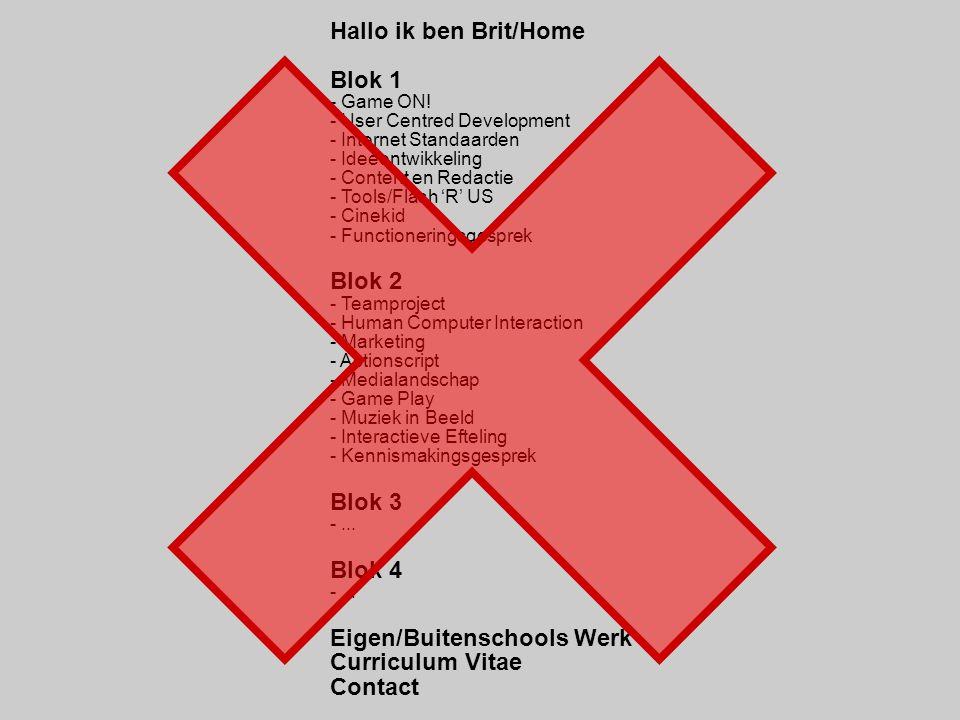 Eigen/Buitenschools Werk Curriculum Vitae Contact