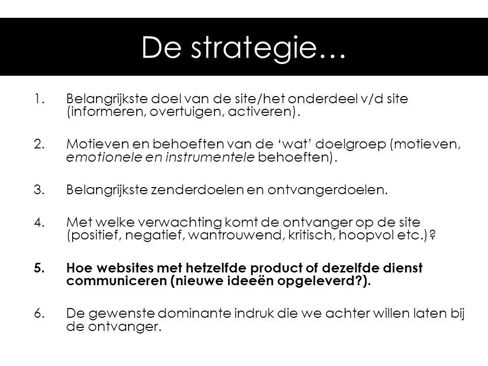 Hoe kom je daar De strategie…
