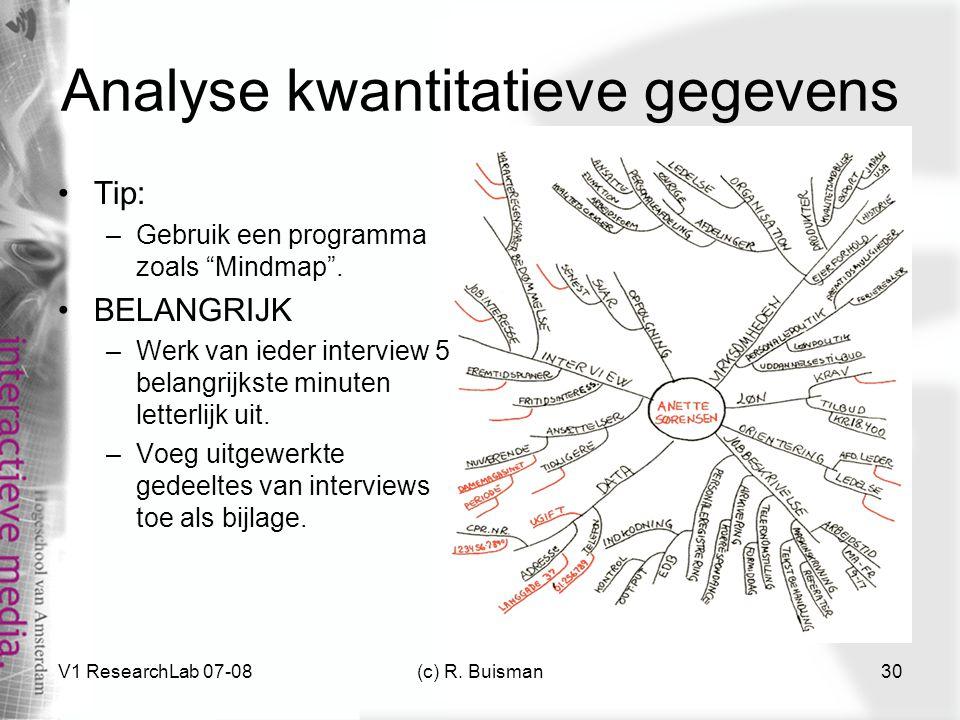 Analyse kwantitatieve gegevens