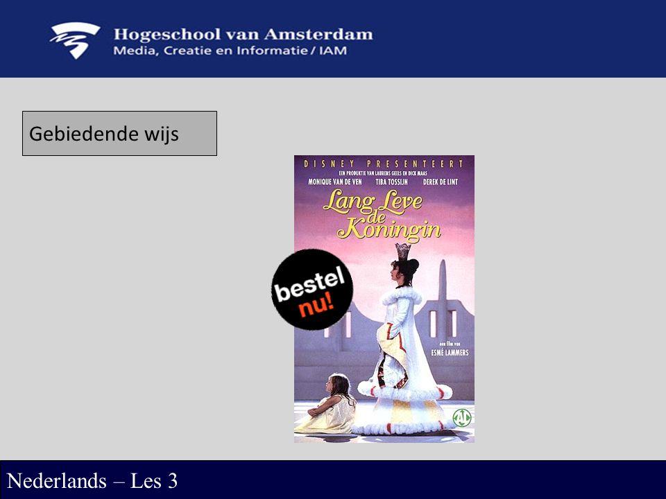 Gebiedende wijs Nederlands – Les 3