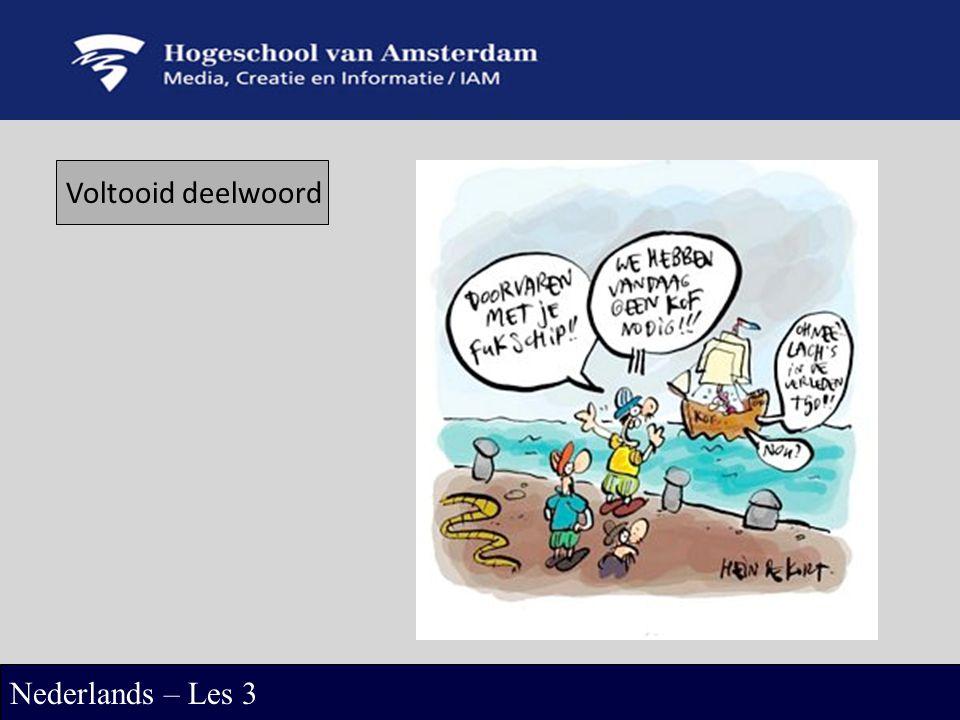 Voltooid deelwoord Nederlands – Les 3