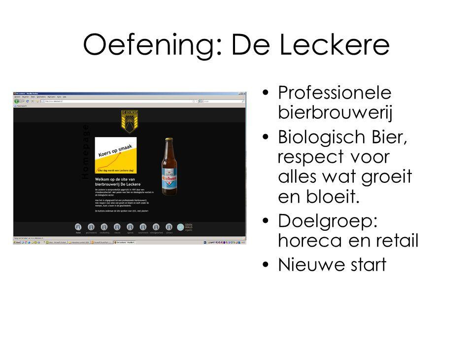 Oefening: De Leckere Professionele bierbrouwerij