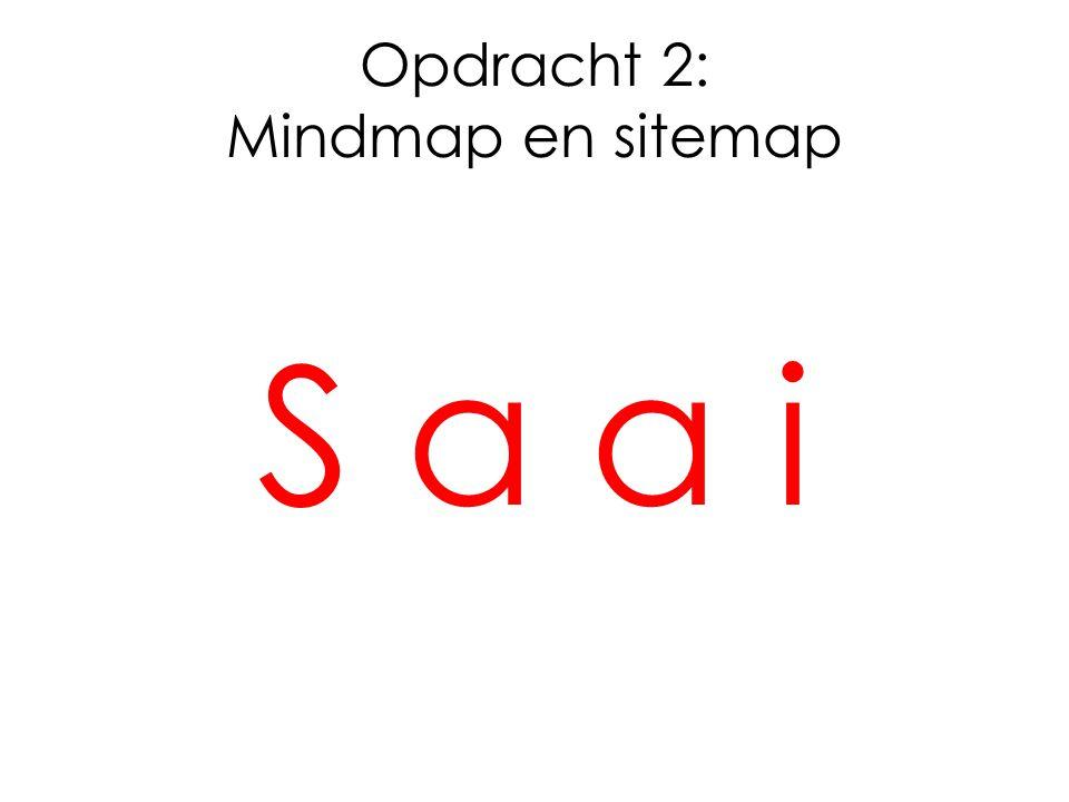 Opdracht 2: Mindmap en sitemap