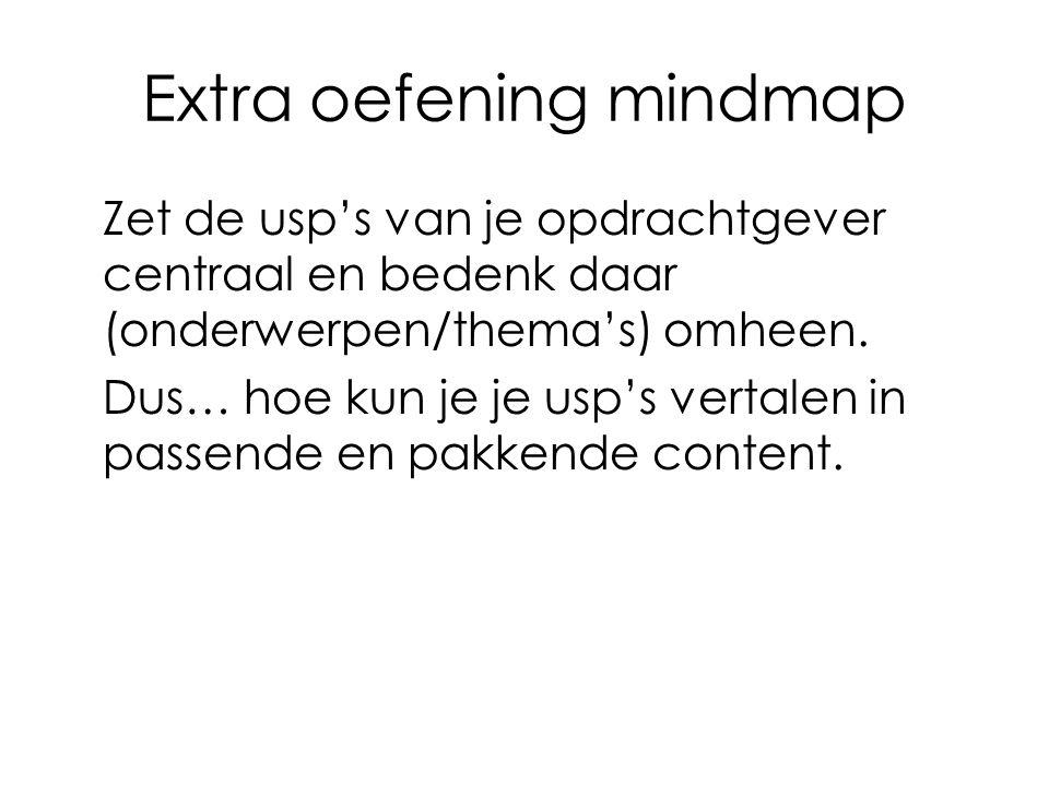 Extra oefening mindmap