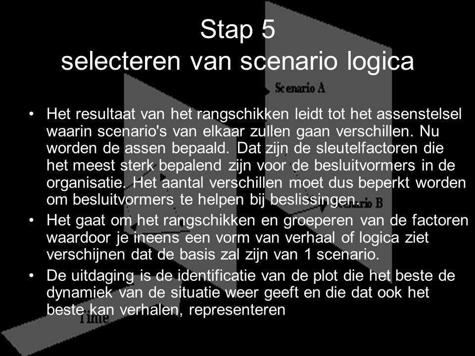 Stap 5 selecteren van scenario logica