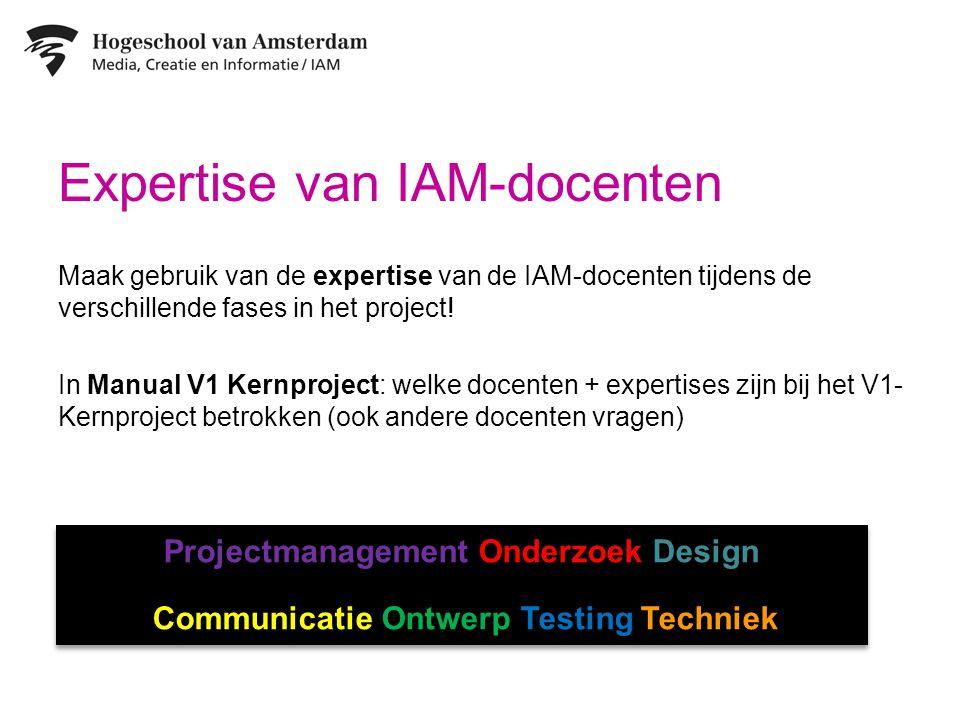 Expertise van IAM-docenten