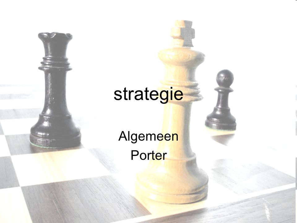 strategie Algemeen Porter