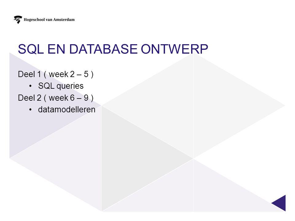 SQL en database ontwerp