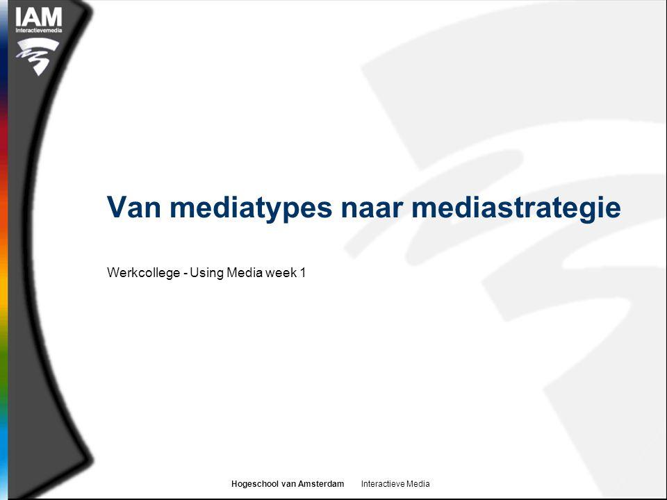 Van mediatypes naar mediastrategie