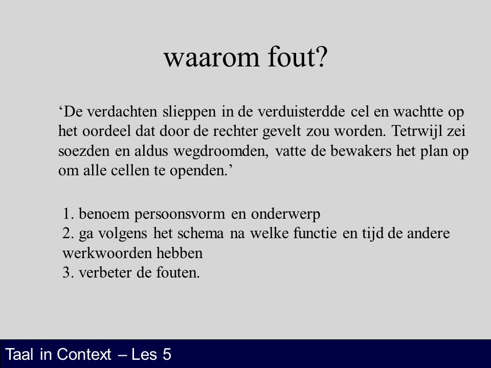 waarom fout