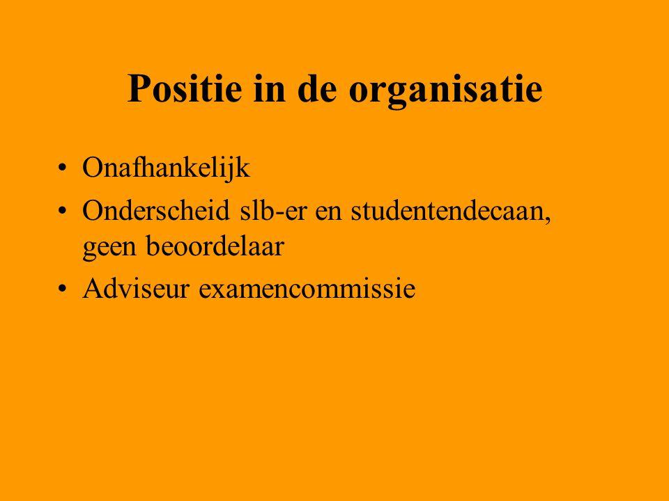 Positie in de organisatie