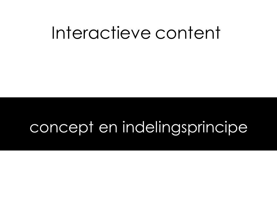 concept en indelingsprincipe