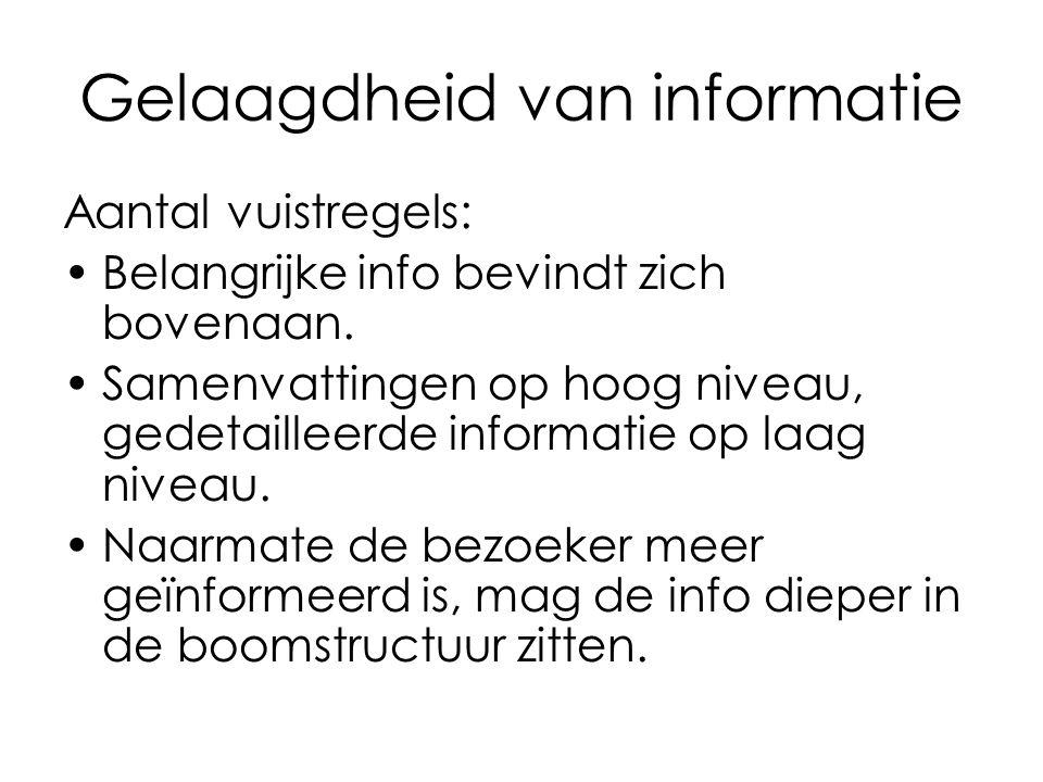 Gelaagdheid van informatie