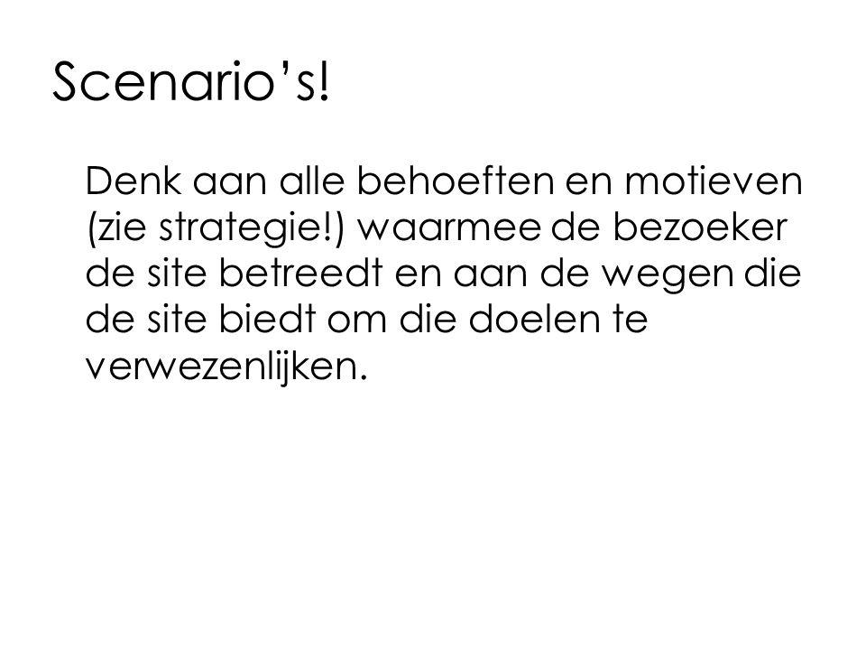 Scenario's!