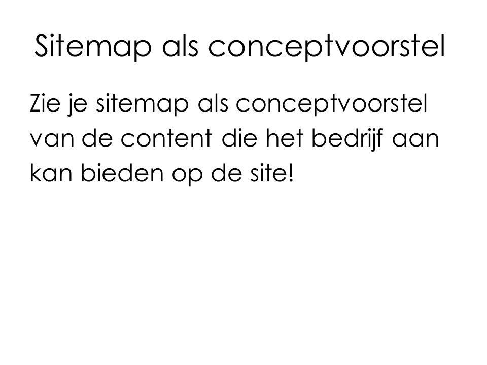 Sitemap als conceptvoorstel