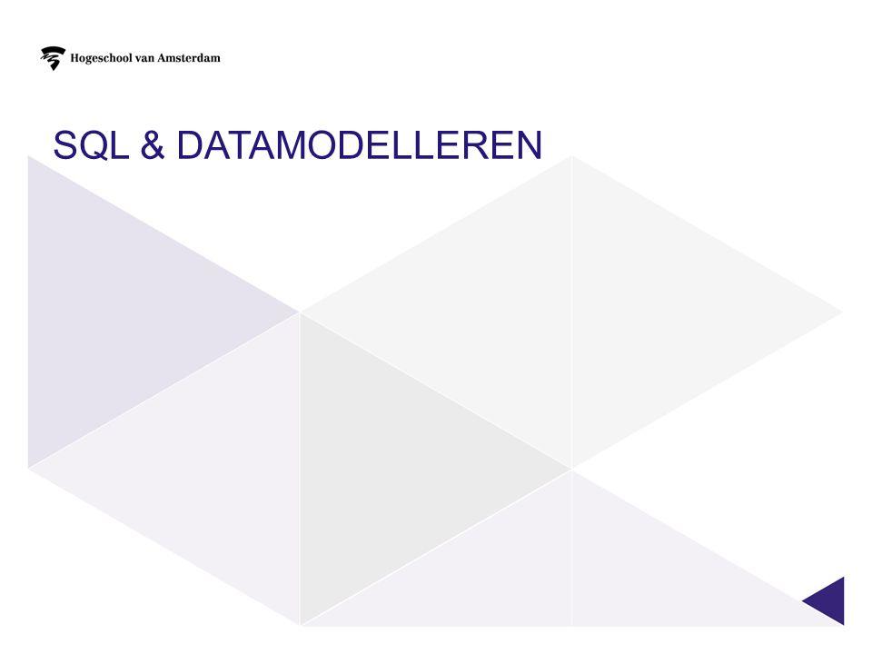 SQL & datamodelleren