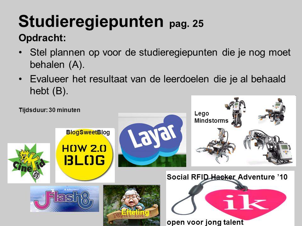 Studieregiepunten pag. 25