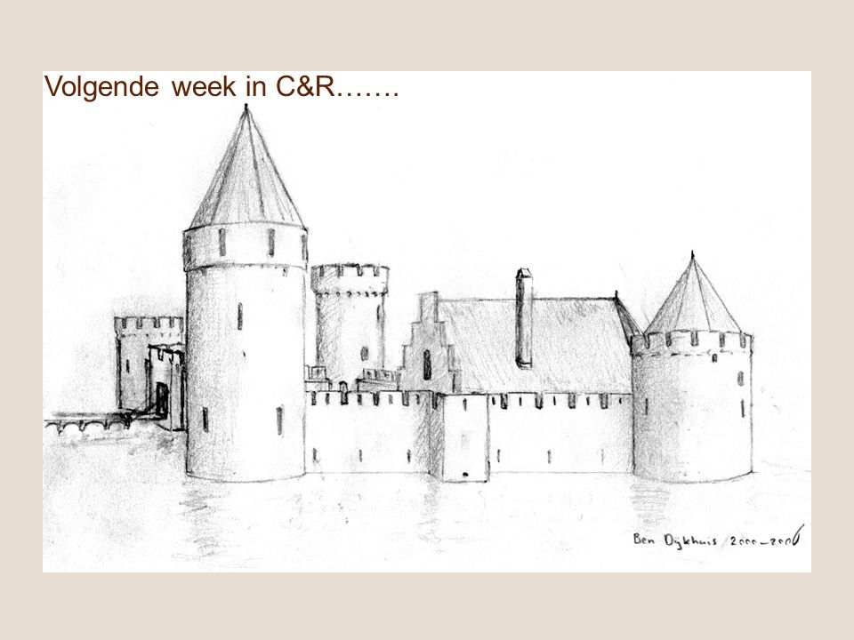 Volgende week in C&R…….