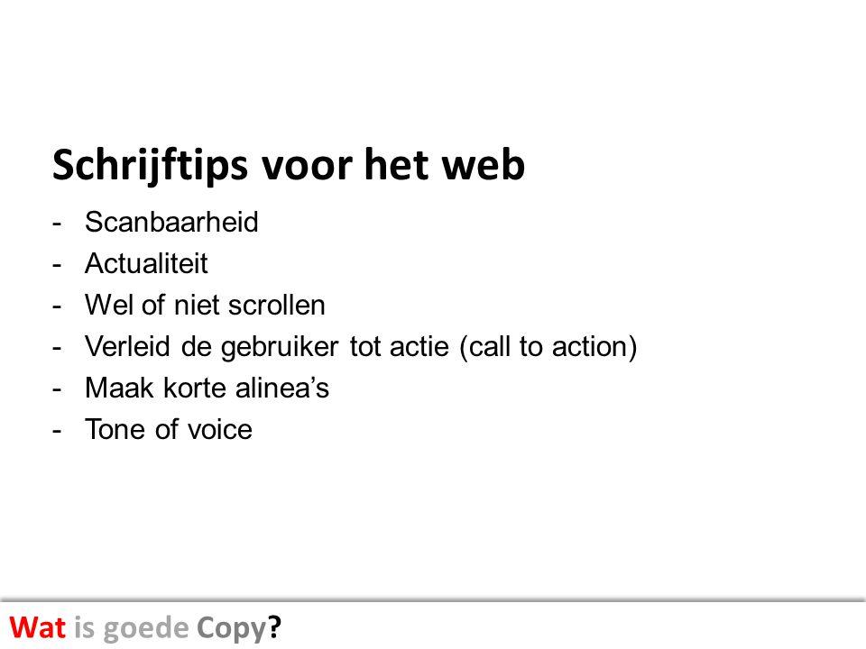 Schrijftips voor het web