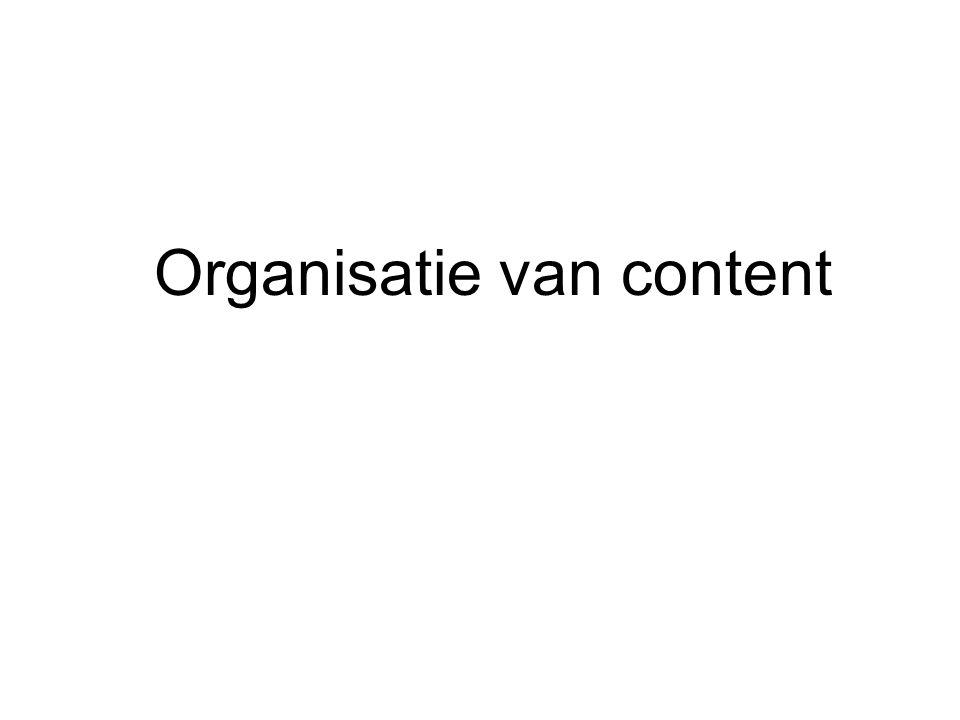 Organisatie van content